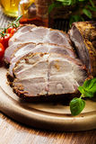 Roasted pork neck with spices Royalty Free Stock Image