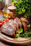 Roasted pork neck with spices Royalty Free Stock Photography