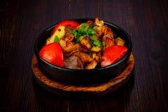 Roasted pork with potato Royalty Free Stock Photo