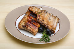 Roasted pork ribs Royalty Free Stock Images