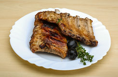 Roasted pork ribs Stock Photography