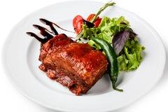 Roasted pork ribs Stock Image