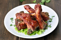Roasted pork ribs Stock Images