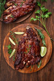 Roasted pork ribs Royalty Free Stock Photos
