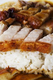 Roasted pork rice Stock Photo