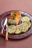 Roasted pork roulade with pistachio Royalty Free Stock Image