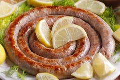 Roasted pork sausage Royalty Free Stock Photography