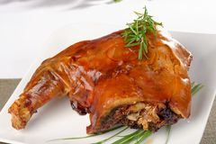Roasted pork shank Stock Image