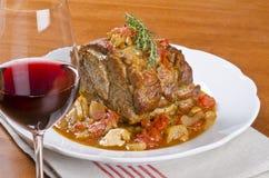 Free Roasted Pork Shoulder Served With Red Wine 2 Stock Images - 28406454