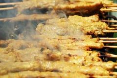 Roasted Pork Stick Shish kebab Royalty Free Stock Photo