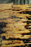 Roasted Pork Stick Shish kebab Stock Images