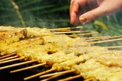 Roasted Pork Stick Shish kebab Royalty Free Stock Photography