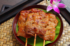 Roasted pork is Thai food style. Royalty Free Stock Image