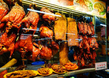 Roasted porks and ducks at restaurant in Chinatown, Singapore Royalty Free Stock Photo