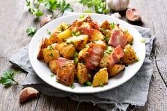 Roasted potato with bacon Stock Image