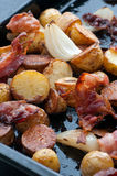 Roasted Potato Bacon And Onion Stock Images