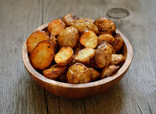 Roasted potato in bowl Royalty Free Stock Image