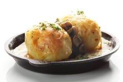 Roasted potato with mushrooms Royalty Free Stock Photo