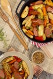 Roasted Potato and Sausage Dinner Royalty Free Stock Photos