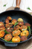 Roasted potato with sea solt and thyme seasoning Royalty Free Stock Photography