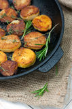 Roasted potato with sea solt and thyme seasoning Stock Photography