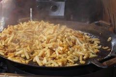 Roasted potato slices Stock Image