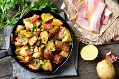 Roasted potato, top view Royalty Free Stock Photos