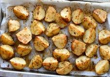 Roasted potato wedges Stock Images