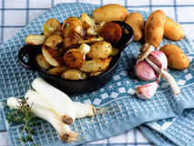 Roasted Potato Wedges Royalty Free Stock Photos