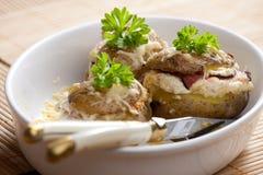 Roasted potatoes. Wth garlic filling Stock Image