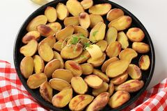 Roasted potatoes Royalty Free Stock Photo