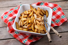 Roasted Potatoes. Freshly made home fried potatoes Royalty Free Stock Photography