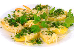 Roasted potatoes Royalty Free Stock Image