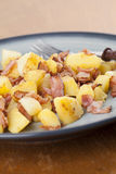 Roasted potatoes with bacon Stock Images