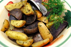 Roasted Potatoes With Dill Royalty Free Stock Images