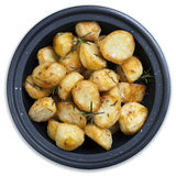 Roasted Potatoes Isolated Stock Photography
