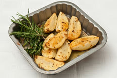 Roasted Potatoes and Rosemary Royalty Free Stock Photos
