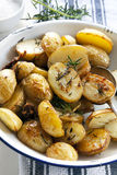 Roasted Potatoes with Rosemary Royalty Free Stock Photography