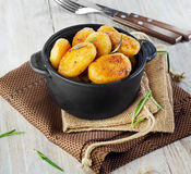 Roasted potatoes Stock Photography