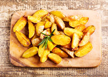 Roasted potatoes with rosemary Stock Photography