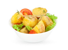 Roasted potatoes with vegetables Royalty Free Stock Image