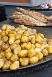 Roasted potatoes Royalty Free Stock Images