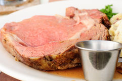 Roasted Prime Rib Stock Image