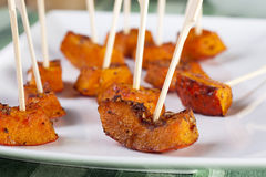 Roasted Pumpkin Appetizer Royalty Free Stock Photo