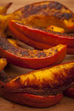 Roasted pumpkin close up Stock Images