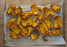 Roasted pumpkin Stock Photo