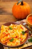 Roasted Pumpkin Ravioli Royalty Free Stock Photos