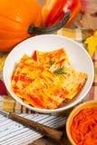 Roasted Pumpkin Ravioli Stock Image