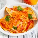 Roasted Pumpkin Ravioli Stock Images