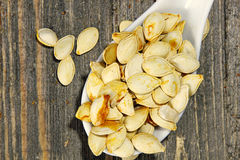 Roasted Pumpkin seeds Stock Photography